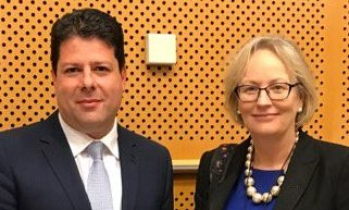 Julie Girling with Fabian Picardo